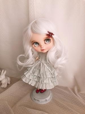 DWL014-A005-10inアリスシフォン[10inch]ピュアホワイト 髪なしブライス ドール ウィッグ