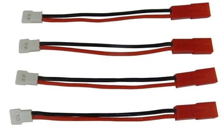◆JST (BEC)オス ⇔ ワルケラ,K110(MOLEX2.0)オス / リポバッテリー充電用変換ハーネス / 4本セット