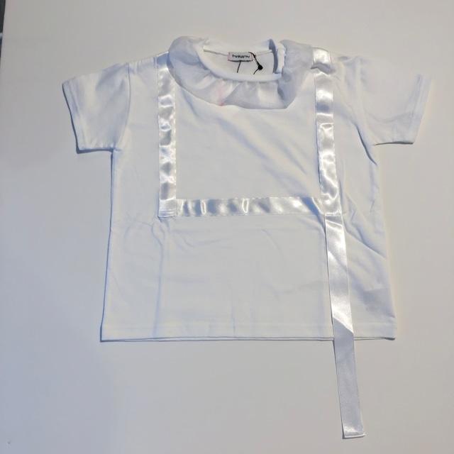 【21SS】フランキーグロウ ( frankygrow ) RIBBON BIG TEE[ F ]white Tシャツ レディース ビッグ