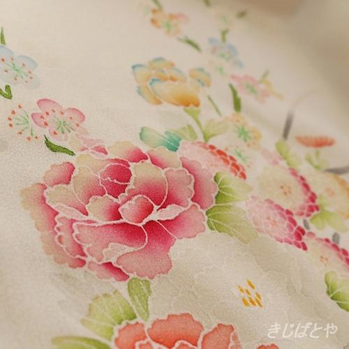 【H様ご予約品】きじばとや特製うそつき襦袢 Luxe 白地に花