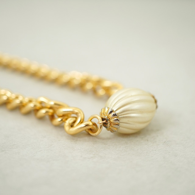 【FRENCH ANTIQUE】SHELL PEARL NECKLACE