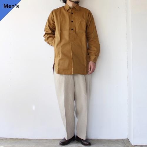 (ラスト1点)Yarmouth Oilskins ワーカーシャツ The Worker Shirt カーキブラウン