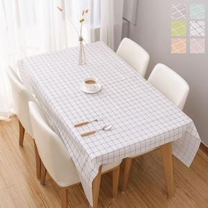 予約 テーブルクロス 北欧風 チェック柄 食卓カバー テーブルマット 食卓 カバー 長方形 花柄 撥水 撥油加工 薄手 軽量 ビニール ピンク オレンジ グリーン グレーcw-a-5170