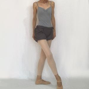 """*""""Abeille"""" Ballet Bloomer - Smoky Charcoal (「アベイユ」バレエブルマー スモーキーチャコール))"""