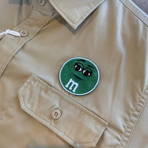 PATCHIES 【ワッペン】 M&M's エムアンドエムズ グリーン ワークシャツ