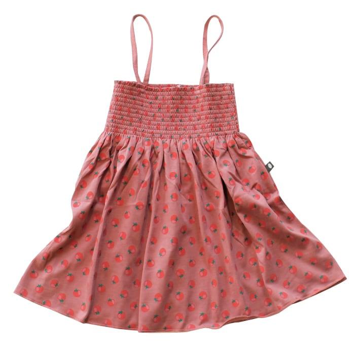 Oeuf smock dress / tomato (2Y)