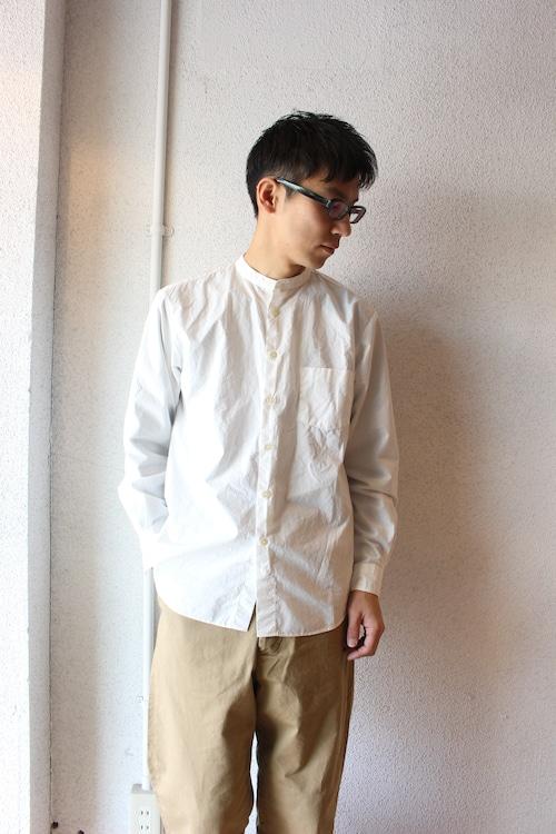 Manual Alphabet(マニュアル アルファベット)/  Loose Fit Bandcollar Shirts(ルーズフィット バンドカラーシャツ)ホワイト