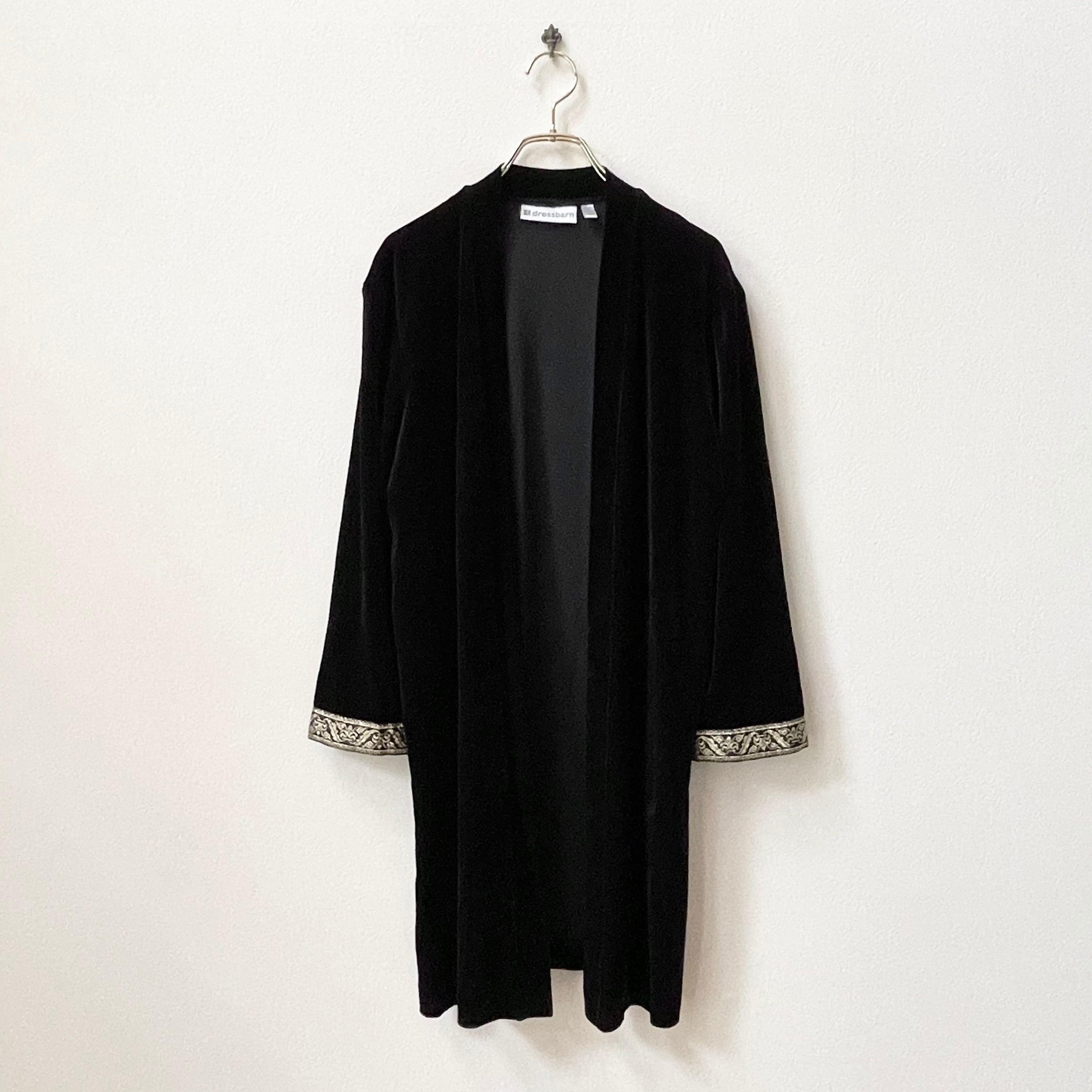 90年代 dressbarn オリエンタル ベロア ロングジャケット アメリカ 古着 日本L