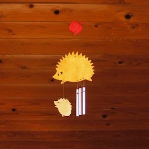 「はりねずみ」木製ウインドチャイム