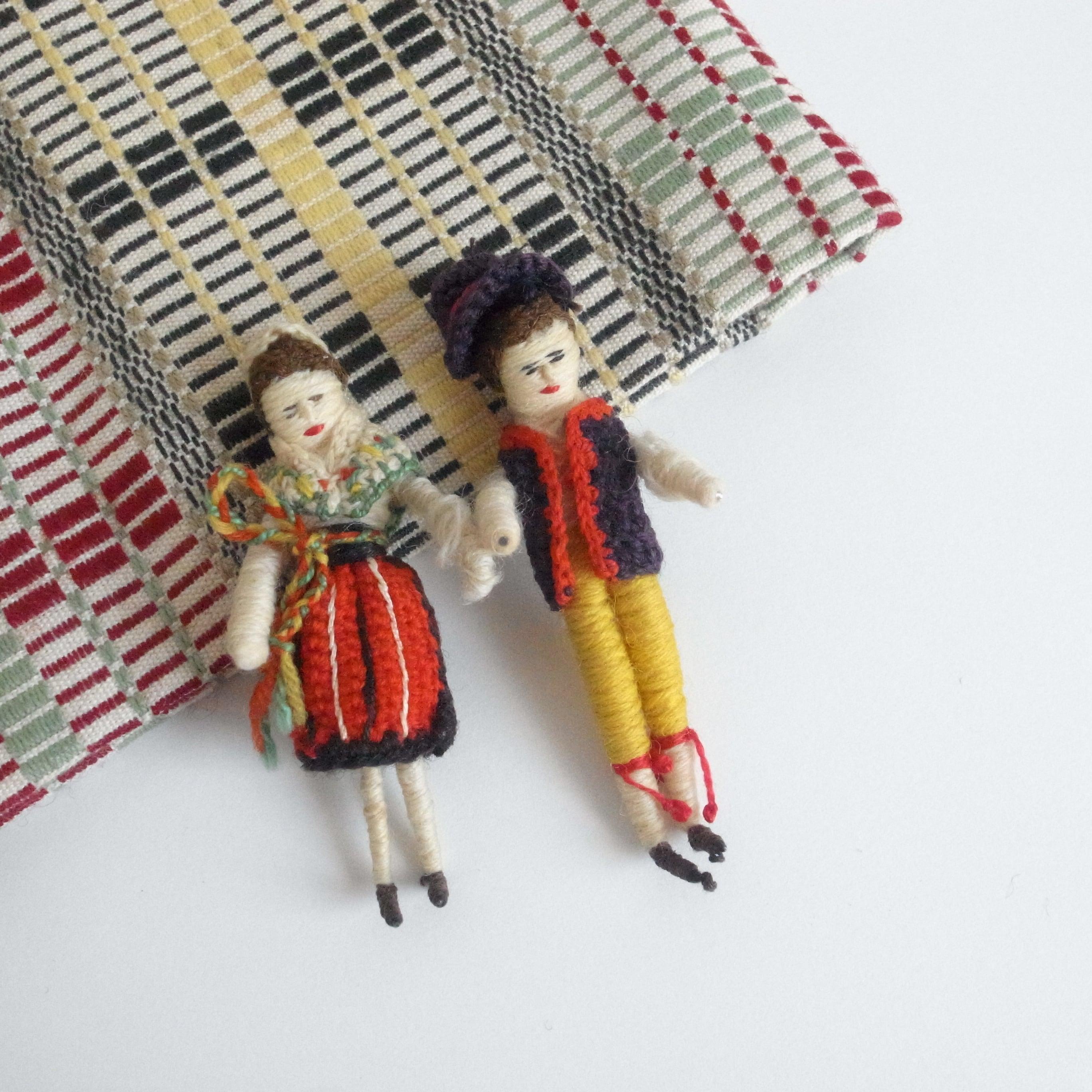 Handmade traditional Costume doll / Rättvik
