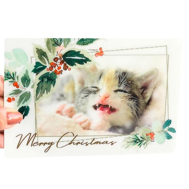 クリスマスカード にっこり
