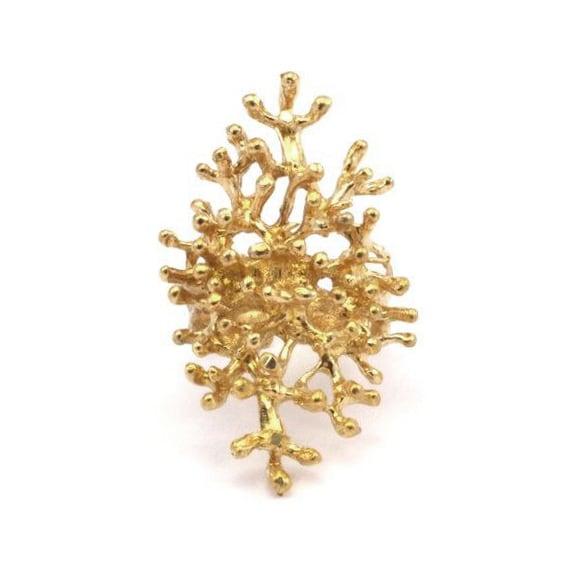 Raw brass Rings -  Tree ring  RG-015
