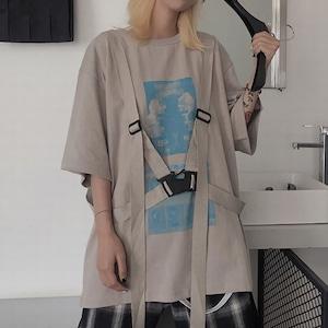 ハーネス付プリントシャツ(全2色) / HWG122