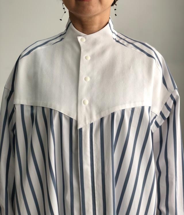 ippei takei【イッペイタケイ】cleric shirts stripe