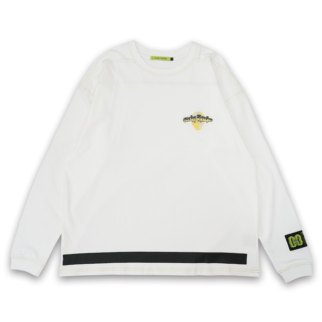T.C.R EXTREME EMBROIDERY LOGO L/S TEE - WHITE