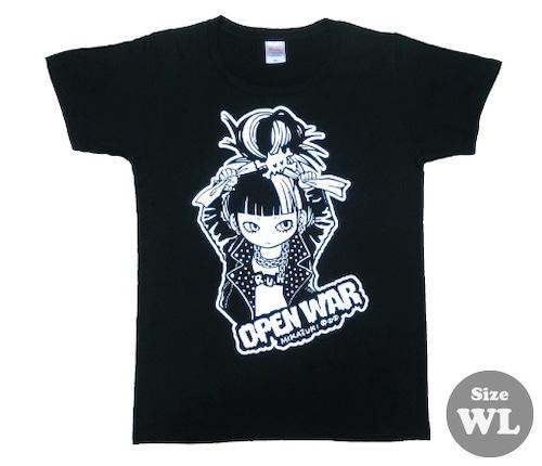 """【再入荷/1点のみ】 """" OPEN WAR """" Tシャツ ブラック [ T-010 ]MIKAZUKI / ミカヅキ"""