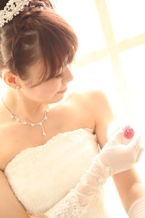 【MarryMemory】エレガントローズパフ(ブライダルピンク)