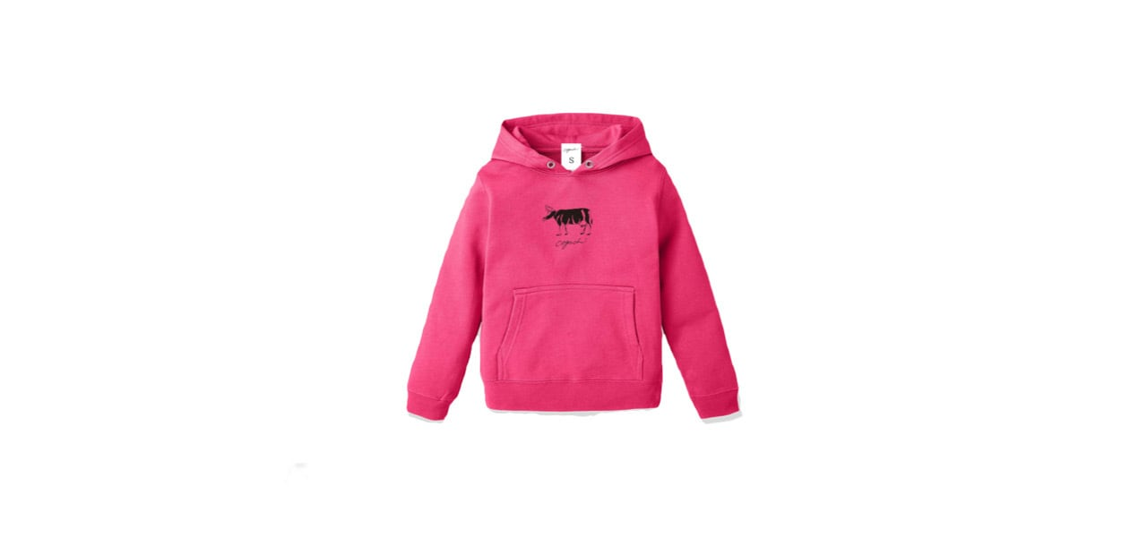 coguchi cow kids hoodie (PNK)