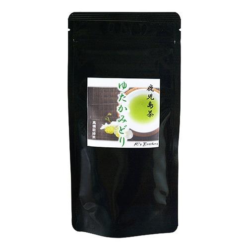 お茶 緑茶 お茶の葉 ゆたかみどり (茶葉) 80g 1袋 鹿児島 小牧緑峰園