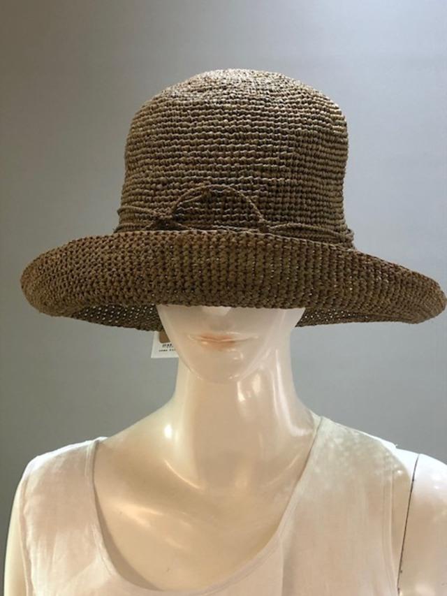 Sans Arcidet (サンアルシデ)FANNY HAT Col.005 (OriveGreen) ラフィア定番人気の帽子 マダガスカル製
