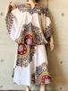 Vintage Dashiki Poncho Top & Skirt Made With  Kenyan Textile