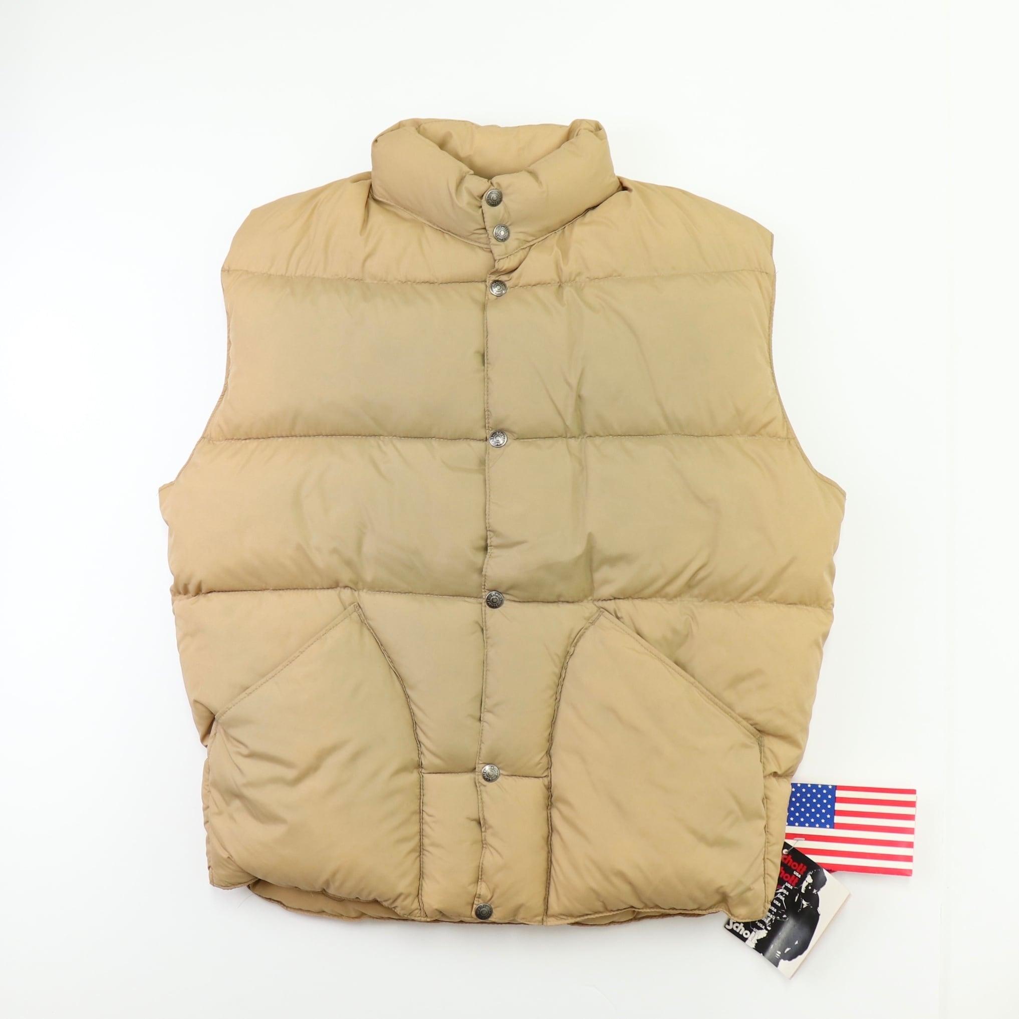 """90s """" Schott """"  Down Vest 【Deadstock】Beige  90年代  ショット  ダウンベスト  グースダウン A698"""