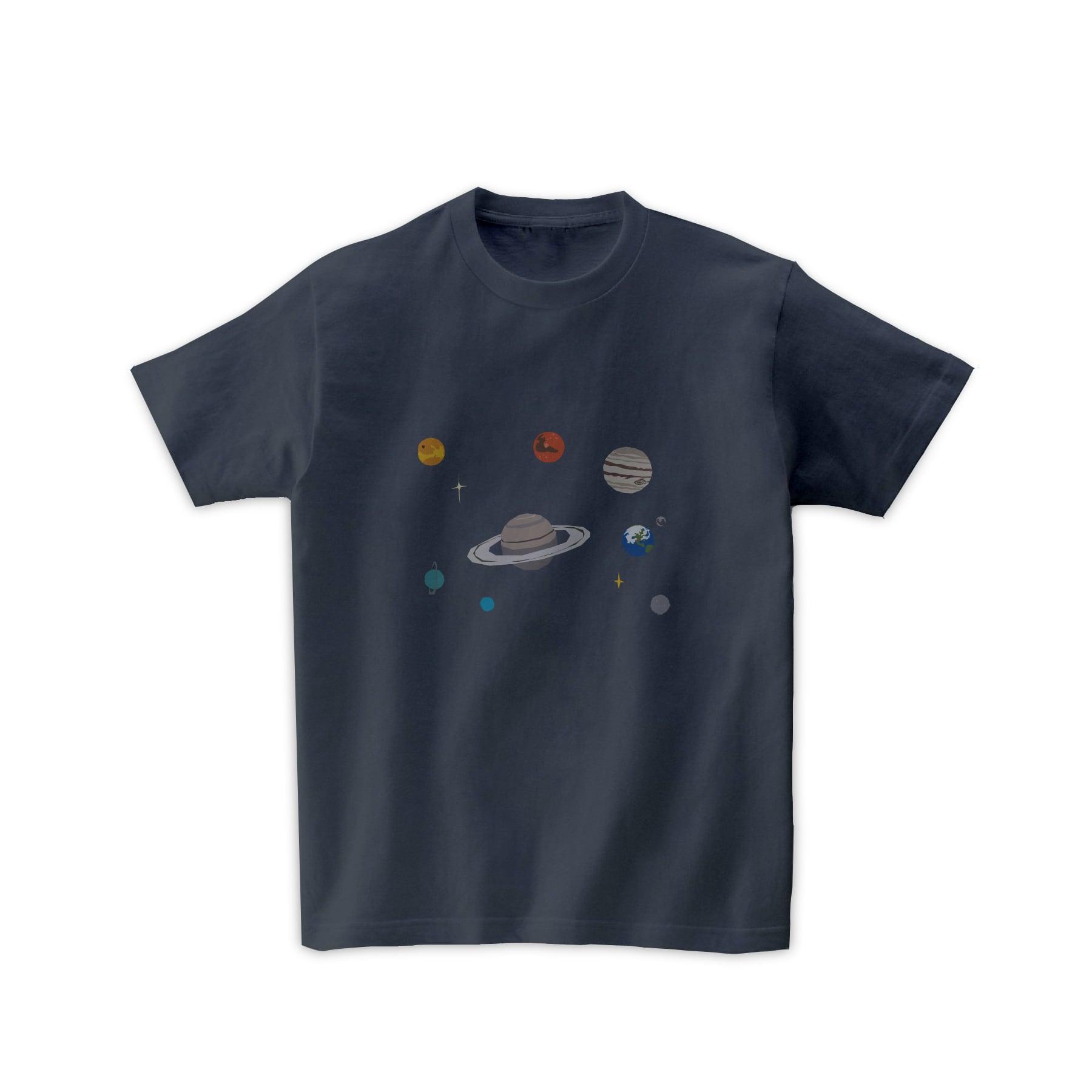 宇宙Tシャツ-太陽系(デニムグレー)