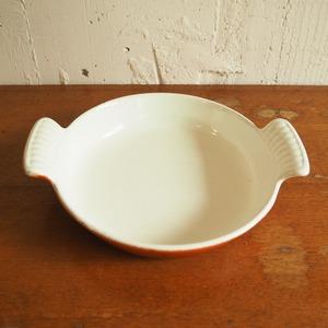 オレンジのグラタン皿