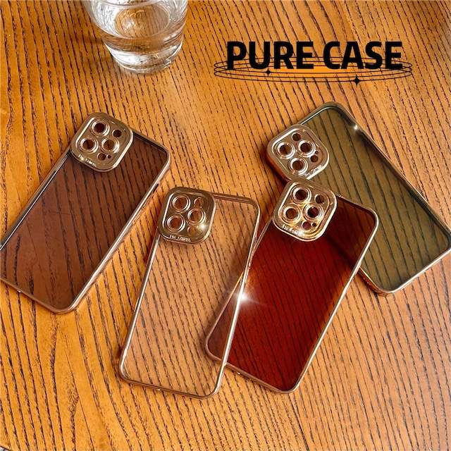 Side Gold clear color iphone case