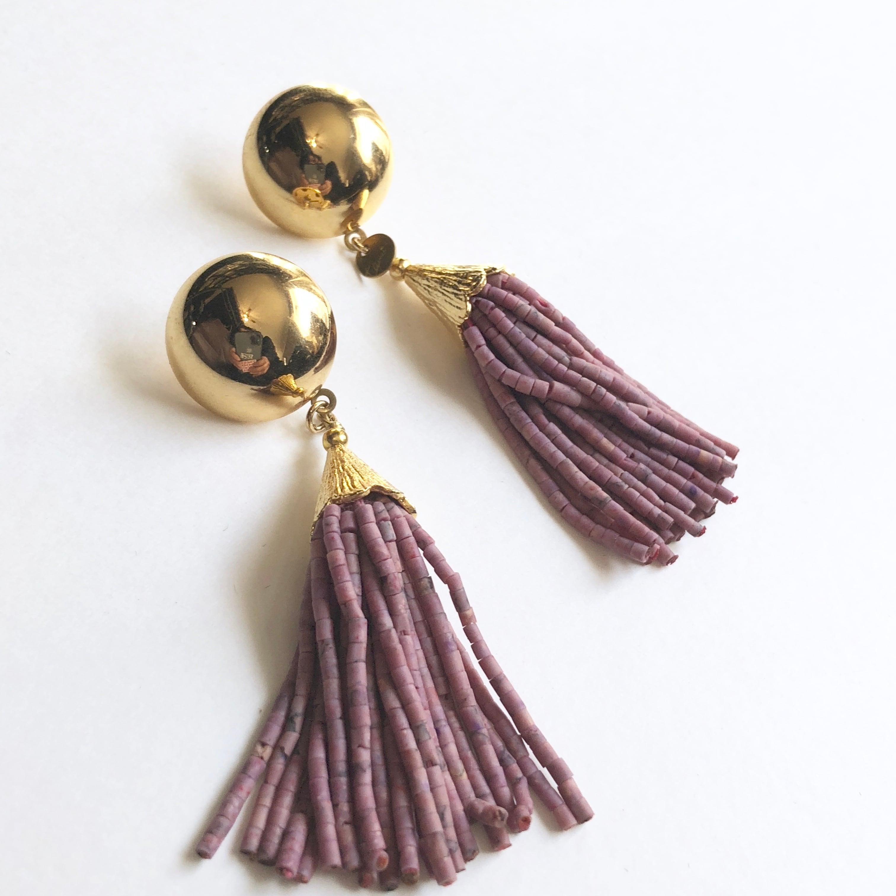 Aube tassel earringsG-011x