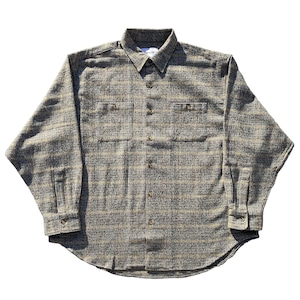 Flannel wide shirt(Mustard)
