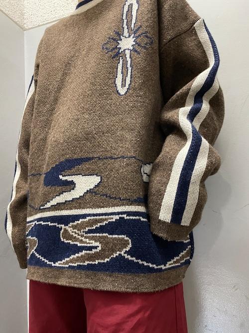 90's EURO ジャガードセーター