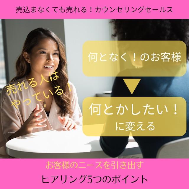 お客様のニーズを引き出すヒアリング5つのポイント/KobayashiMichi