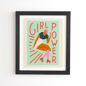 フレーム入りアートプリント ROLLER SKATING GIRL BY TASIANIA【受注生産品: 11月下旬頃入荷分 オーダー受付中】