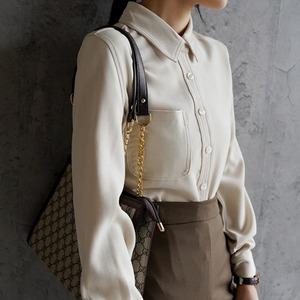 2色/ロッグスリーブモダンシャツ ・3103