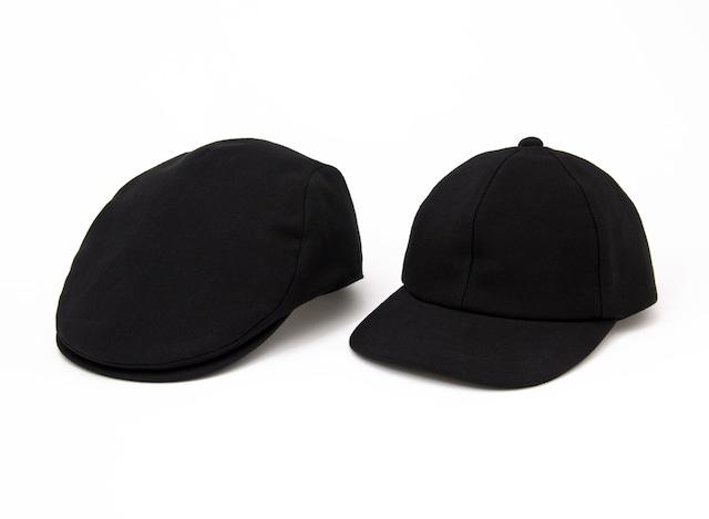 黒紋付染め帽子 (Black cap & huntingung)