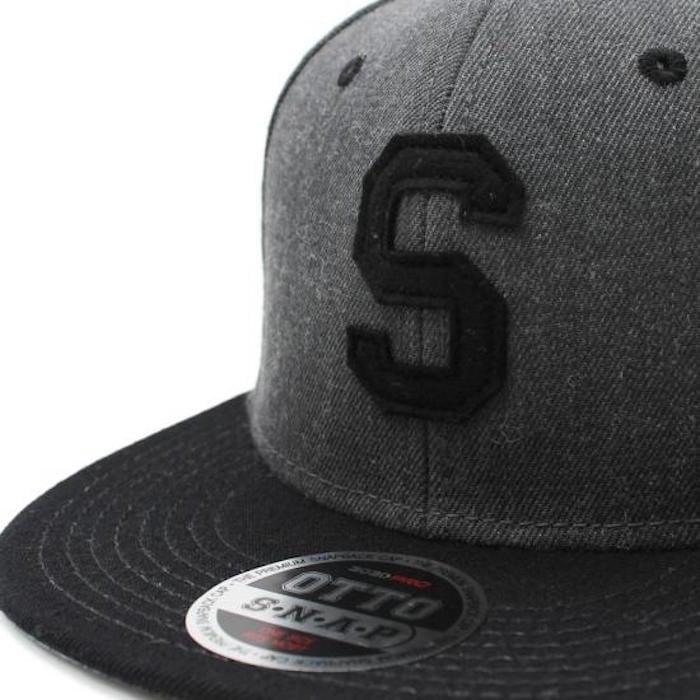 LETTER SNAPBACK CAP #BLACK