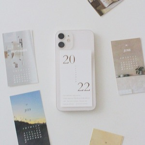 [p.palette] 2022 ミニ  カード カレンダー