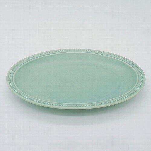 パンとごはんと... (Bread and Rice) RIM DOTS OVAL PLATE (リムドット オーバルプレート) Lサイズ 【グリーン】