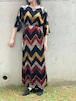 Vintage Velour Zigzag Dress