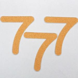 切り文字 A&Cペーパー パルプロック 粘着付 数字「7」