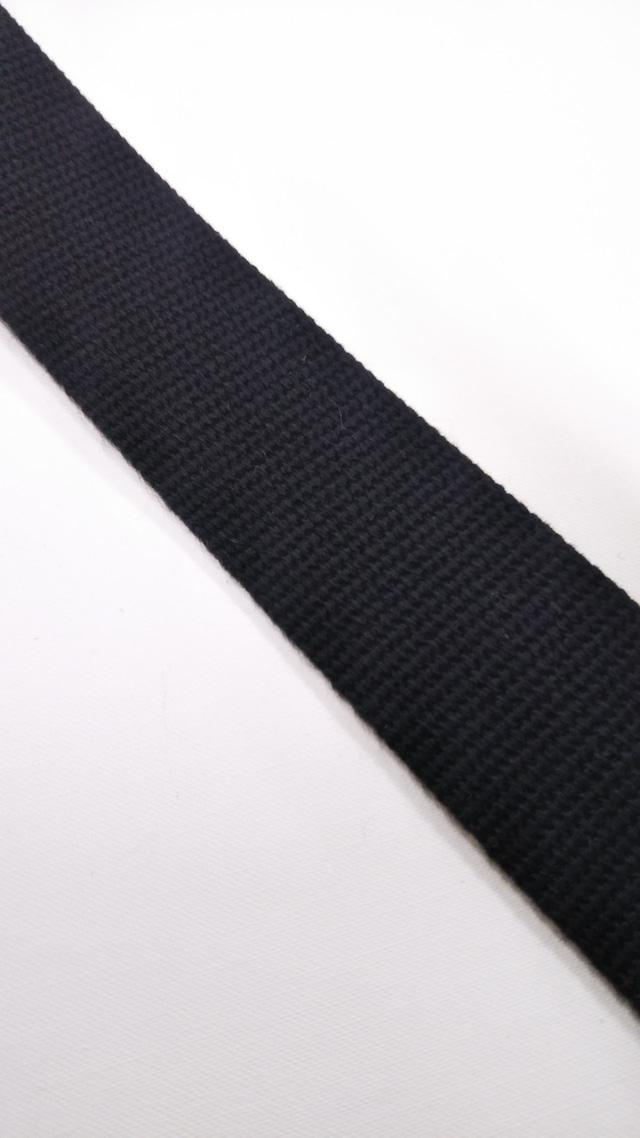 アクリル バーバリー織 30㎜巾 黒 5m