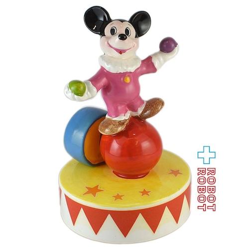 ミッキーマウス 陶器製 オルゴール ピエロ