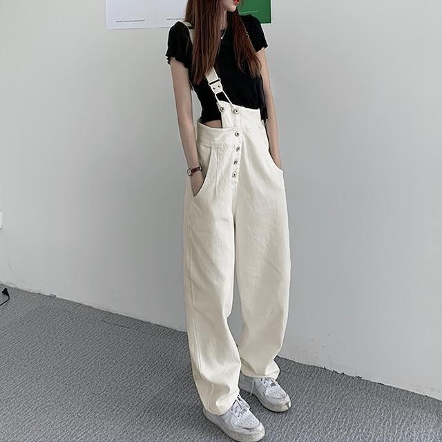 【ボトムス】ビッグサイズS-5XL!カジュアル ファッション ボタン レギュラー丈 デニム 無地 カジュアルパンツ45954788