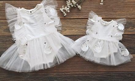 白鳥のホワイトワンピ衣装/3サイズ展開