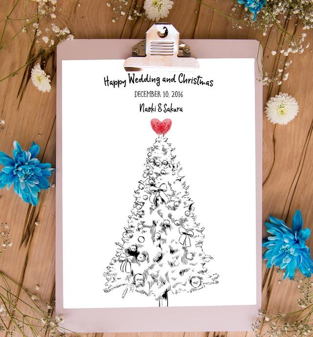 クリスマスツリーのウェディングツリー A2/A3/A4│結婚式 ウェルカムツリー
