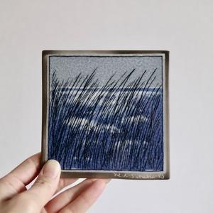 [SOLD OUT] Arabia アラビア ヘルヤ / 陶板 風にそよぐ葦