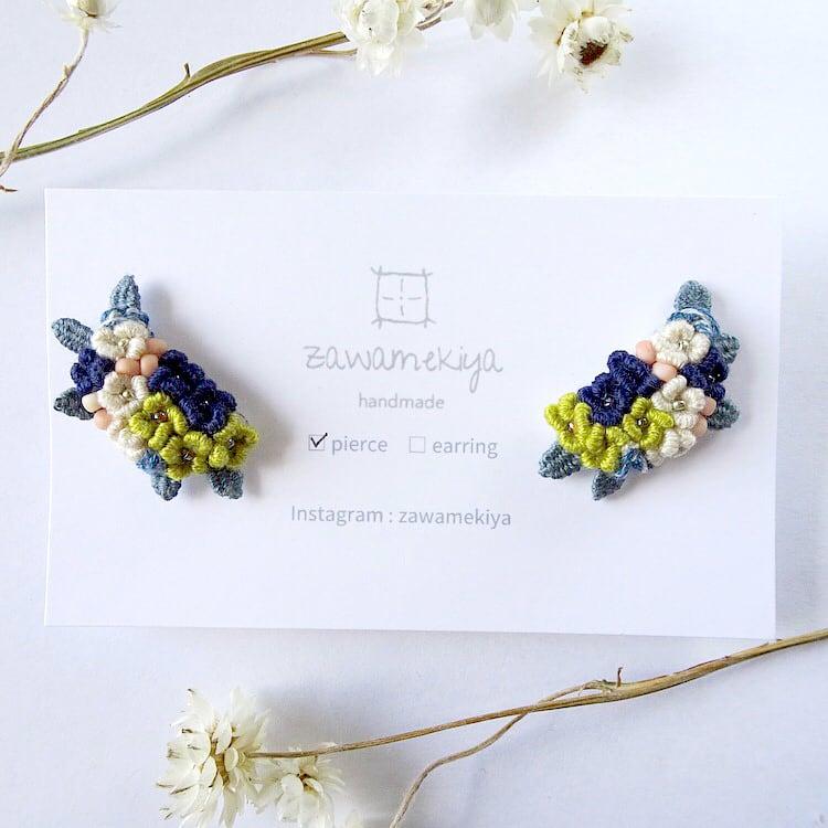 zawamekiya / bouquet -azisai- ピアス・イヤリングクリップ