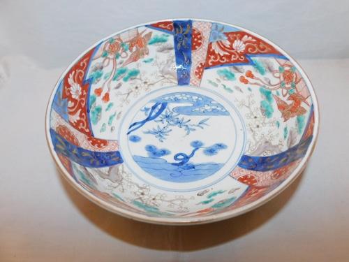 伊万里色絵大鉢 Imari porcelain big bowl