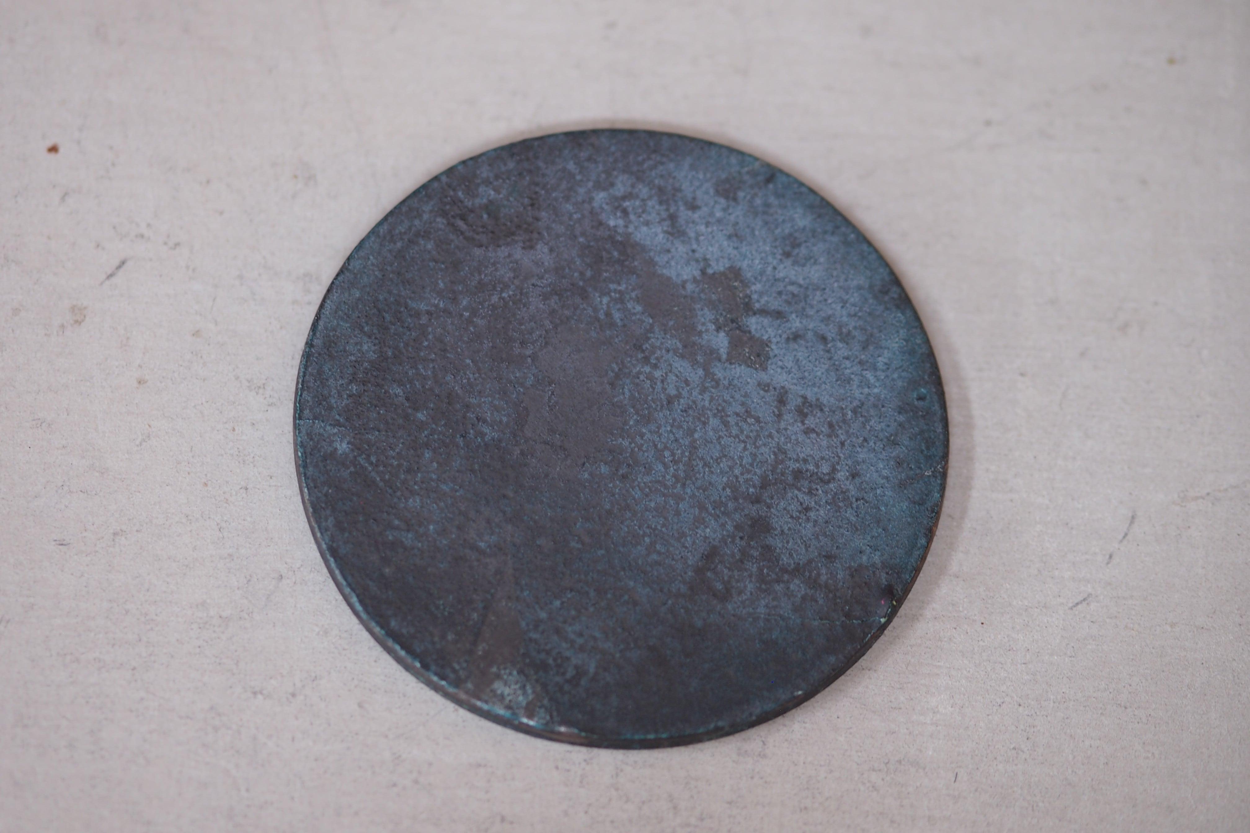 津田清和 青銅丸盤